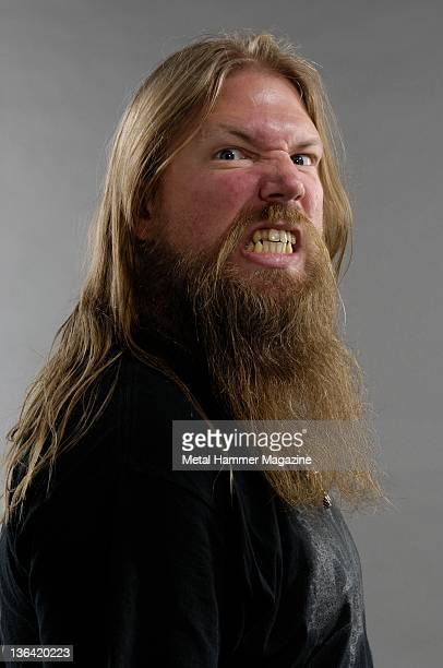 Portrait of Johan Hegg vocalist in the band Amon Amarth session for Metal Hammer magazine August 22 2008