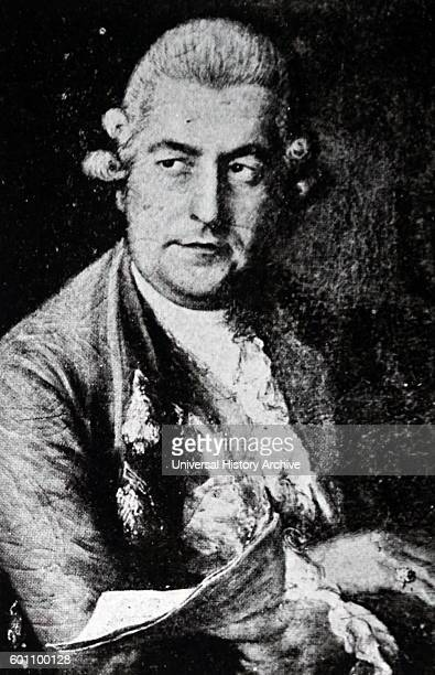 Portrait of Johann Christian Bach by Thomas Gainsborough an English portrait and landscape painter Dated 18th Century
