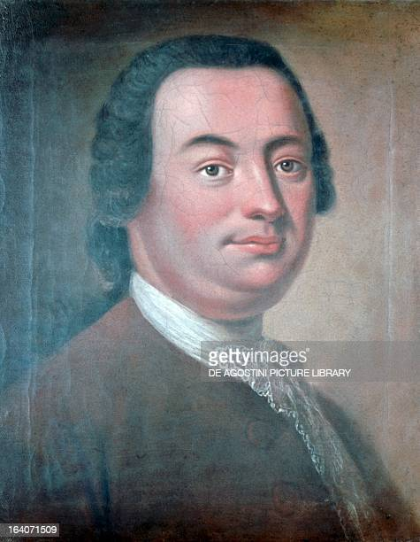 Portrait of Johann Christoph Bach German composer and organist second cousin of Johann Sebastian Bach Painting by Georg David Matthieu Berlin...