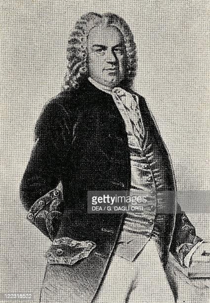 Portrait of Johann Sebastian Bach German composer and organist Print