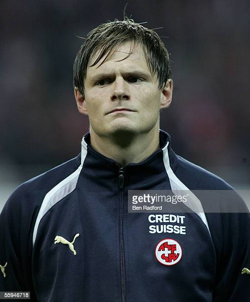 Portrait of Johann Vogel of Switzerland during the FIFA World Cup Qualifying, Group Four match between Switzerland and France at the Stad de Suisse...