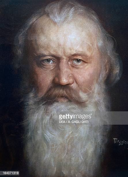 Portrait of Johannes Brahms German composer pianist and conductor Vienna Historisches Museum Der Stadt Wien