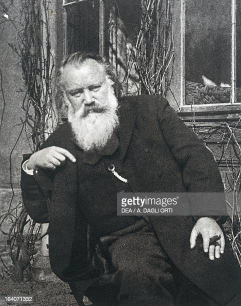 Portrait of Johannes Brahms German composer pianist and conductor Photograph taken by Maria Fellinger Vienna Historisches Museum Der Stadt Wien