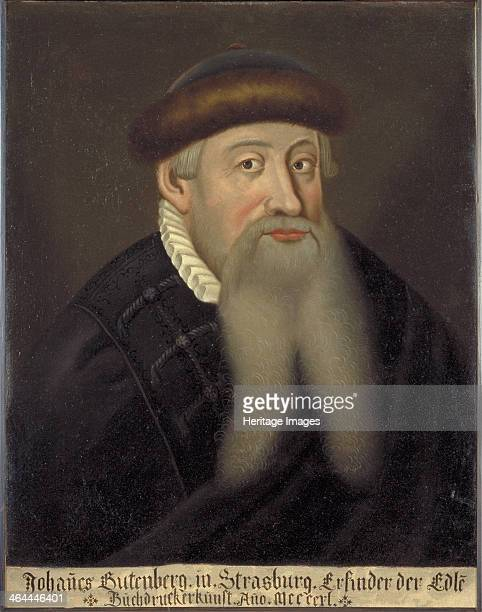 Portrait of Johannes Gutenberg Early 17th cen Found in the collection of the Keio University Library