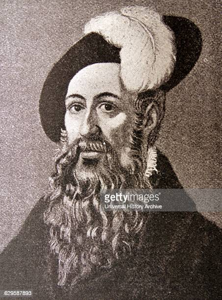 Portrait of Johannes Gutenberg German blacksmith goldsmith printer and publisher who introduced printing to Europe Dated 15th Century