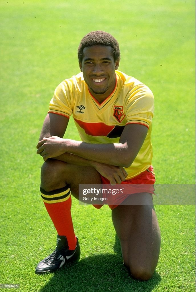 Portrait of John Barnes of Watford during a photo-call held at Vicarage Road in Watford, England. \ Mandatory Credit: Allsport UK /Allsport
