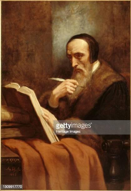 Portrait of John Calvin , 1858. Found in the collection of Musée de la Vie romantique, Paris. Artist Scheffer, Ary . .