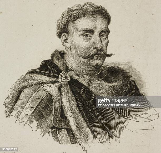 Portrait of John III Sobieski King of Poland engraving by Lemaitre Vernier and Lafon from Pologne by Charles Foster L'Univers pittoresque Europe...