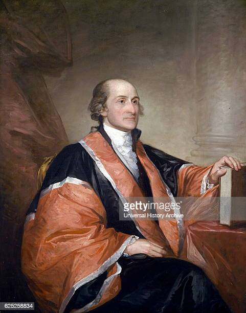 Portrait of John Jay an American statesman patriot diplomat one of the founding fathers and the first Chief Justice of the United States of America...