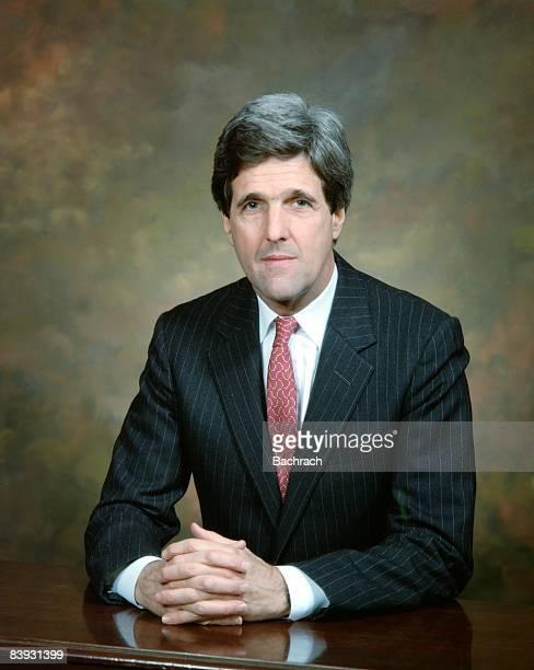 Portrait of John Kerry , senator from Massachusetts and 2004 Democratic candidate for President of the United States, 1993. Boston, Massachussetts.