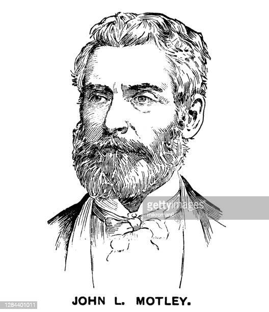 portrait of john lothrop motley, american author - ambassador stock pictures, royalty-free photos & images