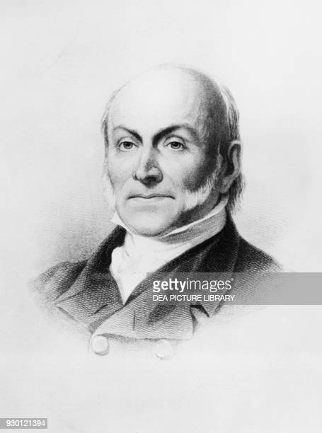 Portrait of John Quincy Adams American diplomat and politician who served as the 6th President of the United States from 1825 to 1829 engraving after...