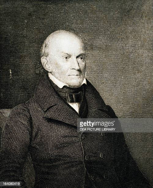 Portrait of John Quincy Adams President of the United States from 1825 to 1829 Engraving United States 19th century