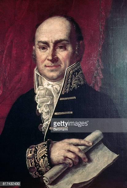 Portrait of John Quincy Adams sixth president of the United States Painting by Van Huffel