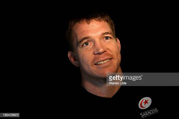 A portrait of John Smit of South Africa after he announced his arrival at Saracens at a press conference at Old Albanians RFC on October 26 2011 in...