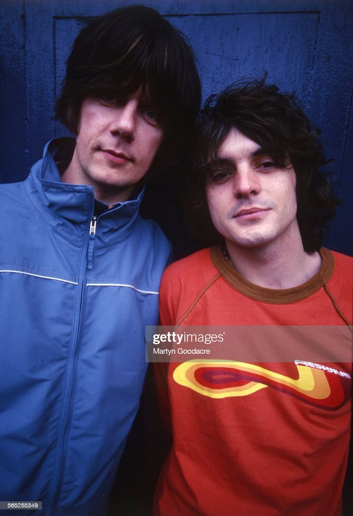 Portrait of John Squire and Chris Helme of The Seahorses, Ireland, 1997.