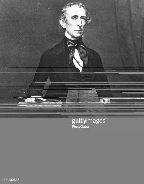 Portrait of John Tyler who served as the tenth president of the United States early to mid nineteenth century