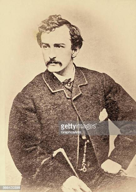 Portrait of John Wilkes Booth albumen print 1861 65