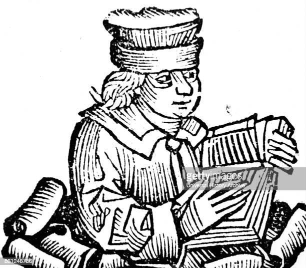 Portrait of John Wycliffe an English scholastic philosopher theologian Biblical translator reformer and seminary professor at Oxford University Dated...