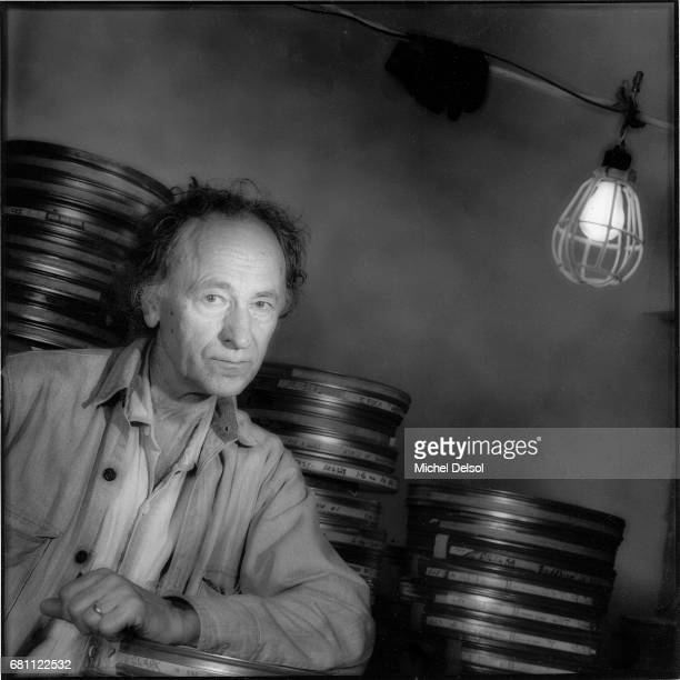 Portrait of Jonas Mekas filmmaker critic curator and founder of the Anthology Film Archives At the offices of the Anthology Film Archives Lower East...