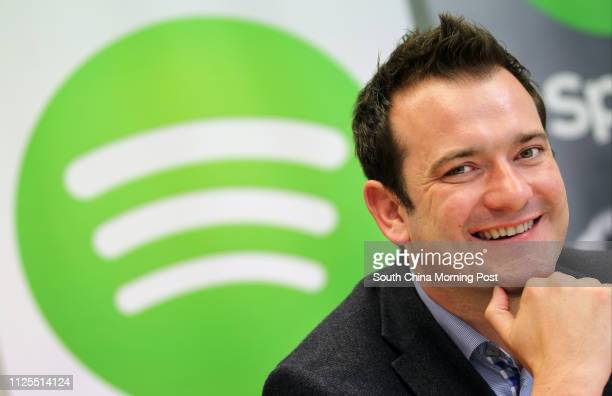 Portrait of Jonathan Forster General Manager at online music service Spotify a Li Kashingbacked internet venture 15APR13