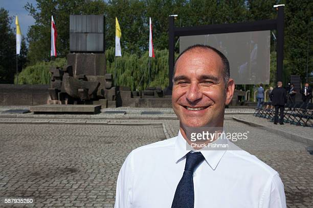 Portrait of Jonathan Ornstein Executive Director of the Jewish Community Centre of Krakow at the International Monument at Birkenau on the grounds of...