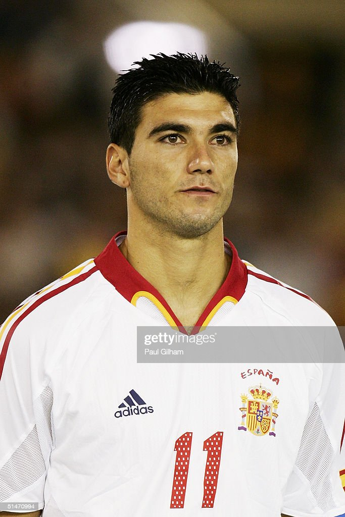 A portrait of Jose Antonio Reyes of Spain prior to the group seven 2006 World Cup qualifying match between Spain and Belgium at El Sardinero Stadium on October 9, 2004 in Santander, Spain.