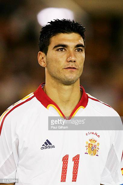 A portrait of Jose Antonio Reyes of Spain prior to the group seven 2006 World Cup qualifying match between Spain and Belgium at El Sardinero Stadium...