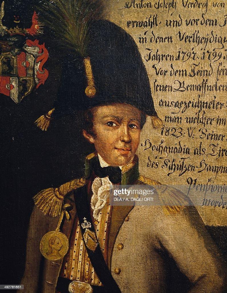 A portrait of Josef Von Verdross Latsch, 1797, Tyrolean commander, Trentino-Alto Adige, Italy. Merano, Museo Civico Di Merano