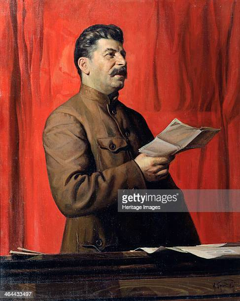 'Portrait of Joseph Stalin' 1933 Born Iosif Vissarionovich Dzugashvili Stalin played a prominent role in the Russian Revolution of 1917 He became...