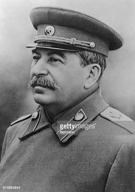 Portrait of Joseph Stalin Premier of the Union of Soviet Socialist Republics in military uniform