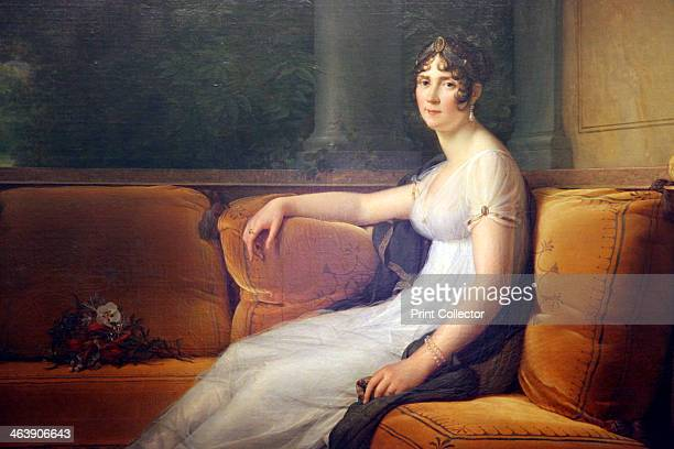 'Portrait of Josephine' 1801 Detail Josephine de Beauharnais married Napoleon Bonaparte in 1798 and was crowned Empress of France in 1804 Josephine...