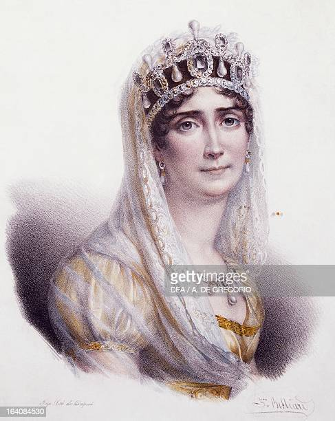 Portrait of Josephine Bonaparte and Josephine de Beauharnais first wife of Napoleon Bonaparte Empress of France Print Santena Castello Di Santena...