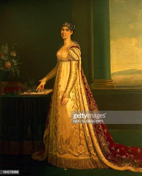 Portrait of Josephine Bonaparte or Josephine de Beauharnais first wife of Napoleon Bonaparte Empress of France Painting attributed to Robert Lefevre...