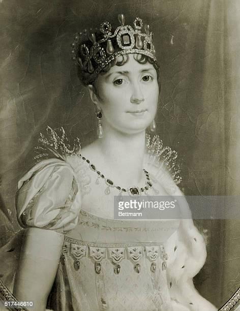 Portrait of Josephine nee MarieJosepheRose Tacher de la Pagerie Born in Martinique June 23rd 1763 traveled to France and married Viscount de...