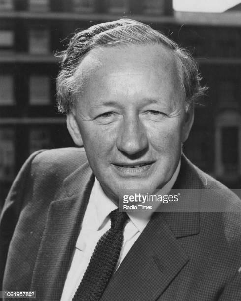 Portrait of journalist and broadcaster Wynford VaughanThomas circa 1970