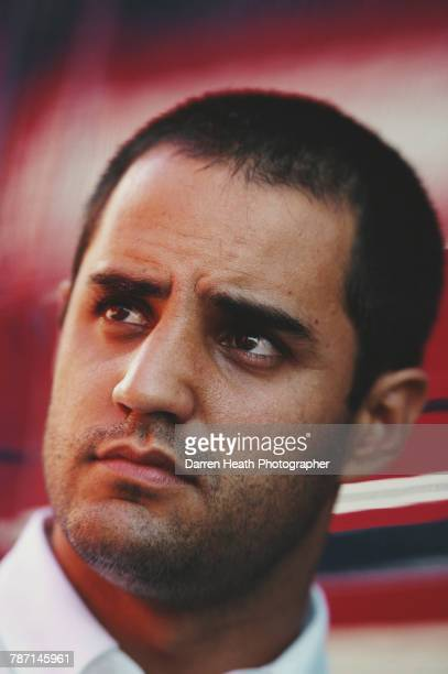 A portrait of Juan Pablo Montoya of Colombia driver of the BMW Williams F1 Team Williams FW25 BMW V10 during the Formula One Spanish Grand Prix on 4...