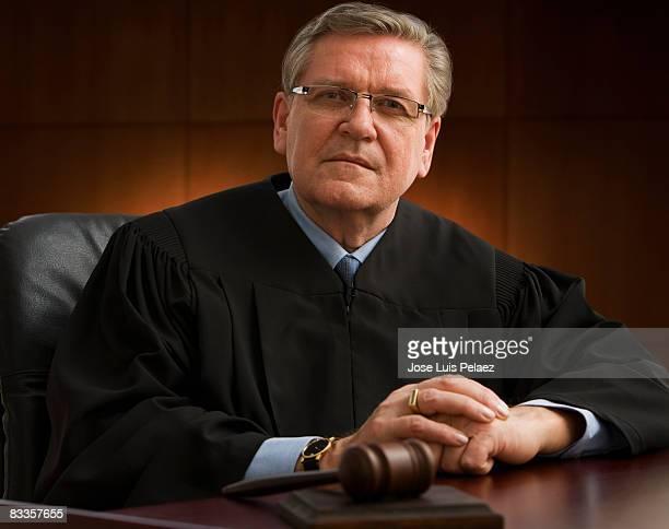 portrait of judge - 裁判官 ストックフォトと画像