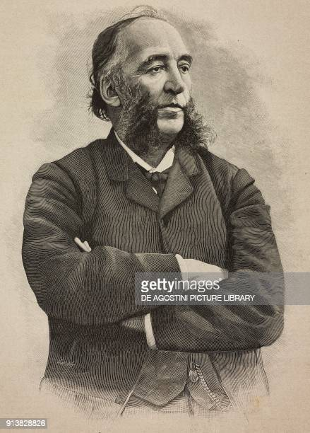 Portrait of Jules Ferry French Republican politician engraving after a photo from L'Illustrazione Italiana Year XX No 11 March 12 1893