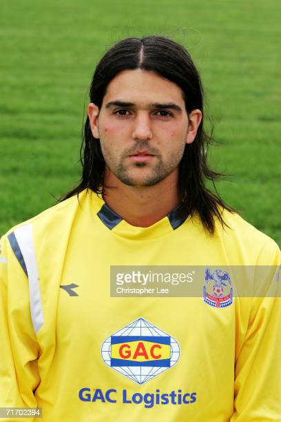 A portrait of Julian Speroni during the Crystal Palace Football Club Photocall at their Beckenham Training Ground on August 3 2006 in Beckenham...