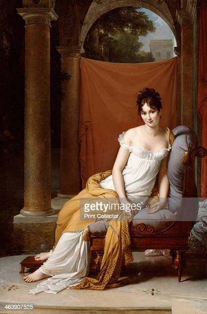 'Portrait of Juliette Recamier' 1805 Jeanne Francoise Julie Adelaide Recamier was a prominent figure in French literary and political circles in the...