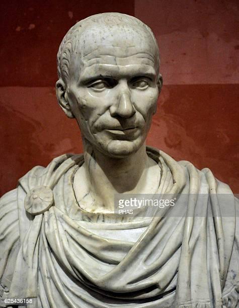 Portrait of Julius Cesar Bust16th Italian imitation roman original of the 1st century BC Marble The State Hermitage Museum Saint Petersburg Russia