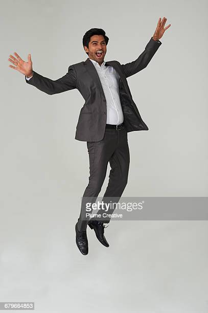 Portrait of Jumping Man