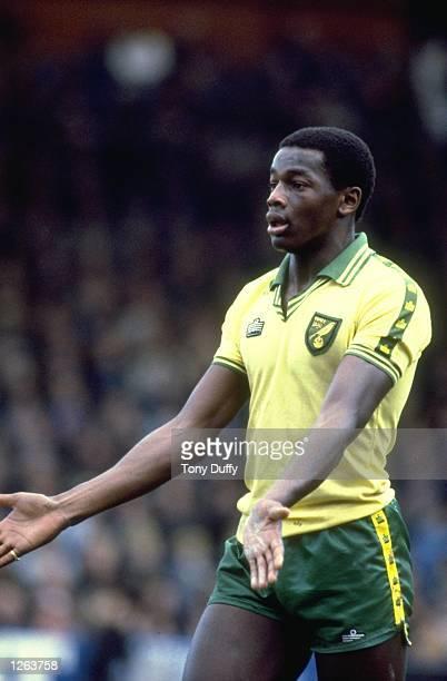 Portrait of Justin Fashanu of Norwich City during a match Mandatory Credit Tony Duffy/Allsport