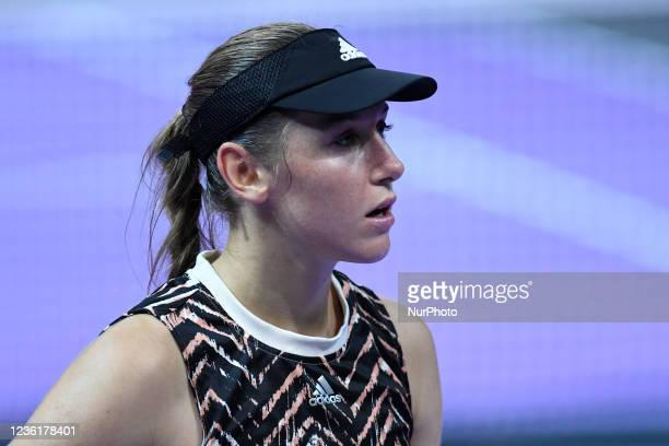 Portrait of Kaja Juvan during her game against Jaquelin Cristian on the fourth day of WTA 250 Transylvania Open Tour held in BT Arena, Cluj-Napoca 26...