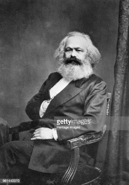 Portrait of Karl Marx before 1875 Found in the Collection of Russian State Historical Library Moscow