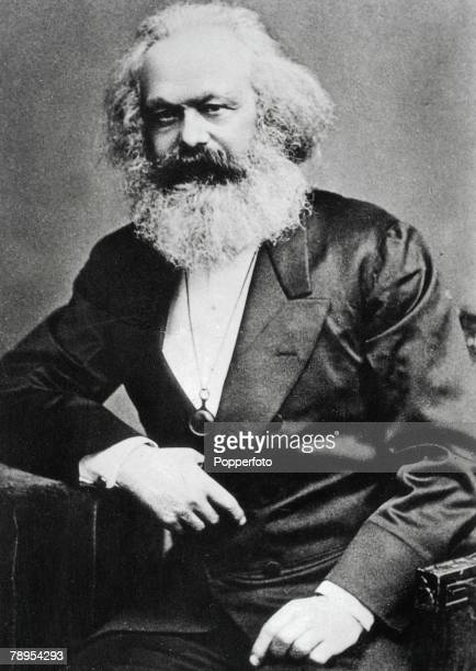 Portrait of Karl Marx 1818 1883 German founder of modern communism in England from 1849 He wrote The Communist Manifesto with Engels in 1848 and...