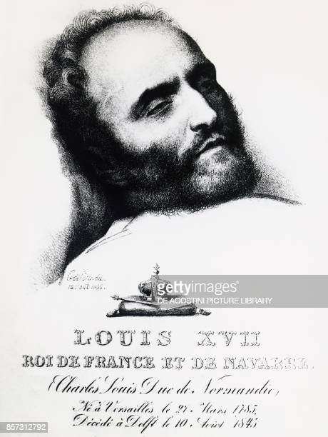 Portrait of Karl Wilhelm Naundorff the most famous and stubborn of the many who claimed to be the Dauphin of France on his deathbed in Delft August...