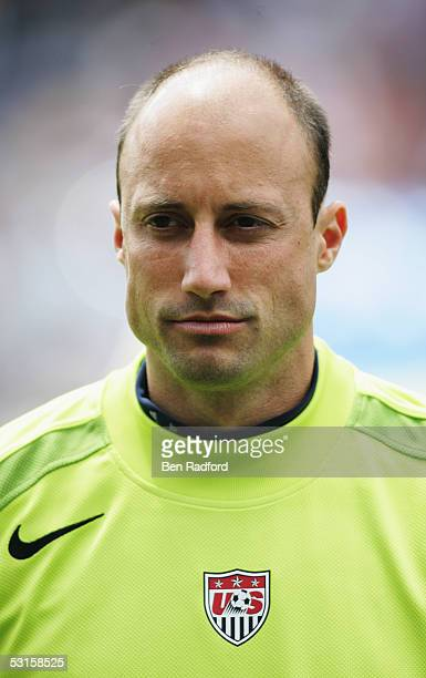 A portrait of Kasey Keller of USA prior to the international friendly match between the United States of America and England held at Soldier Field...