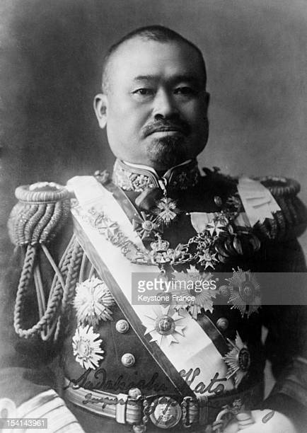 Portrait of Katō Sadakichi admiral in the Imperial Japanese Navy during World War I on April 1930 in Japan